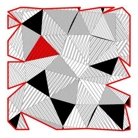 Black and white square in triangle design