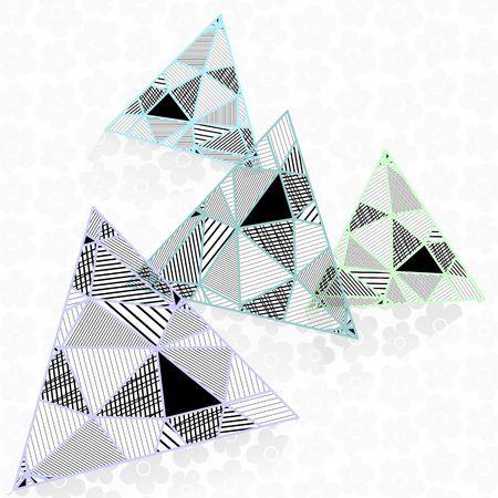 Black and white triangles design