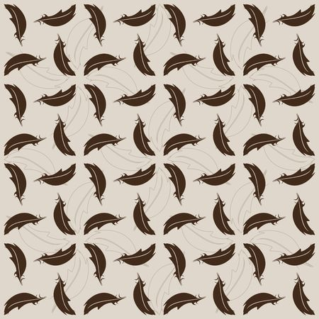 Background with brown and gray feathers