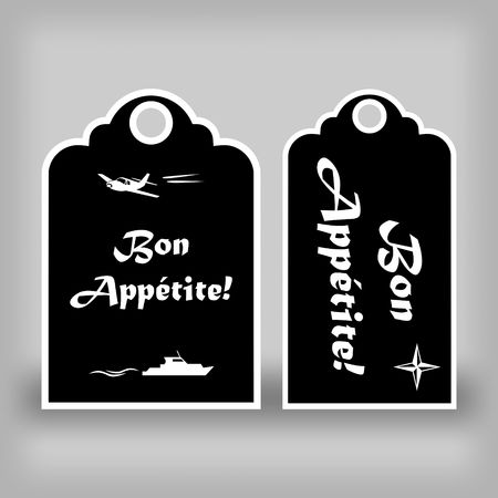 Two black labels Bon appetit