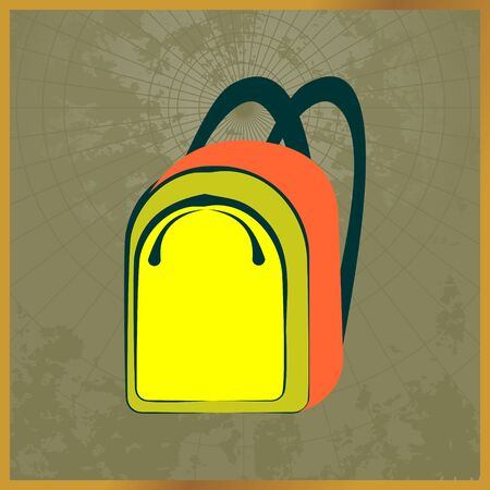 Icon with a yellow backpack field map