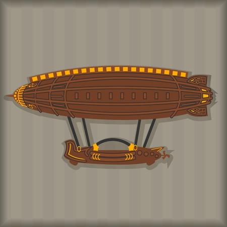 vector image set Steampunk design elements
