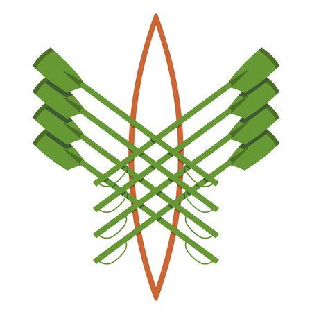 Logo vectoriel pour l'aviron clubgreen et orange
