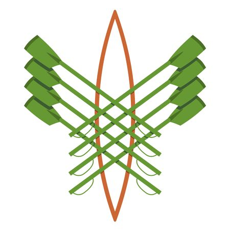 Vector logo for rowing clubgreen and orange