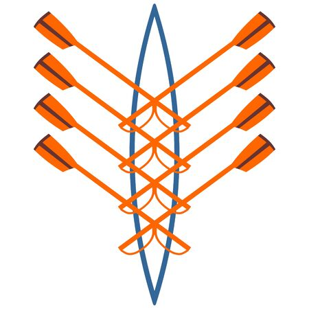 Vector logo for rowing club orange and green