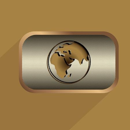 Steampunk icons metal buttons vector set Иллюстрация