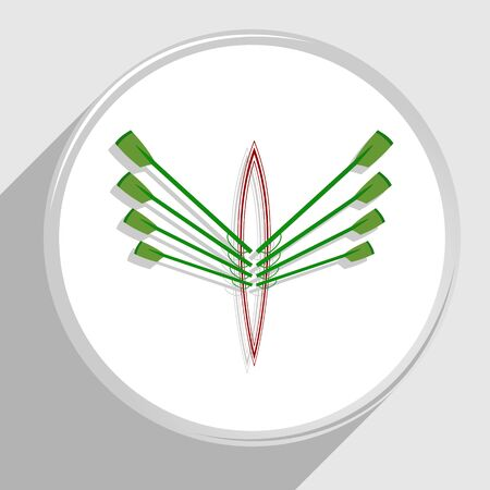 Logotype from rowing club in green and red colors