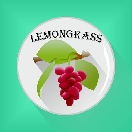 Lemongrass seasoning sticker flat icon vector image
