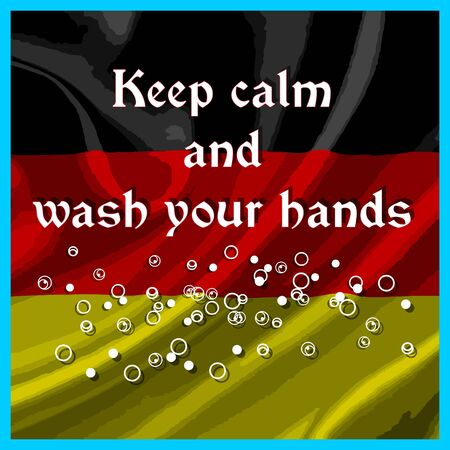 Keep calm and wash your hands label