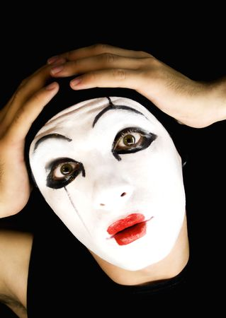 parody: portret of the mime