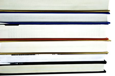 Pile of books isolated on a white background Stock Photo - 3754175