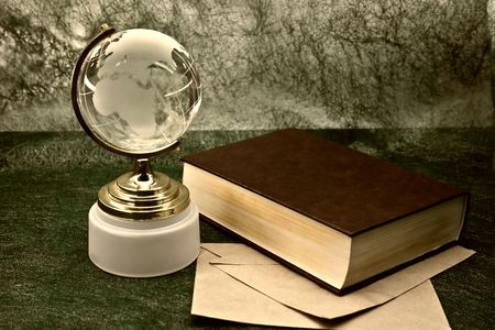 glass globe and the old book Stock Photo - 3788625
