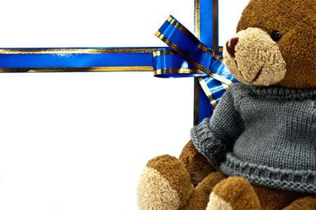 congratulatory: Congratulatory card with a teddy bear