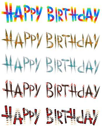 congratulatory: Congratulatory inscription to birthday written by original fonts