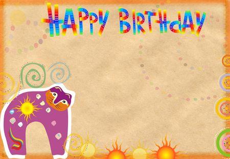 congratulatory: Congratulatory card on birthday with a cat