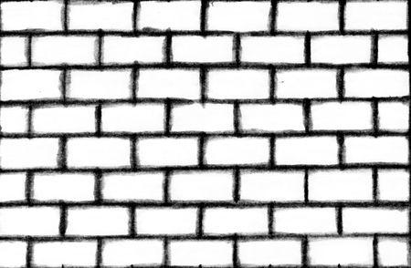 zwart wit tekening: Abstracte achtergrond van een witte muur