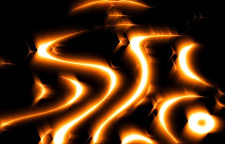strips away: Abstract background with fiery strips Stock Photo