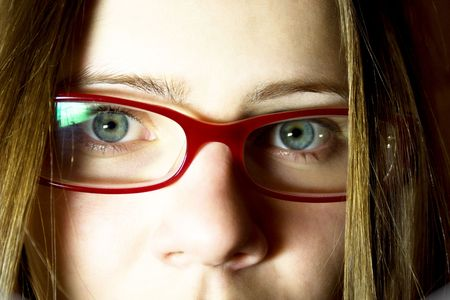 Portrait of the young woman in glasses Stock Photo - 4103206