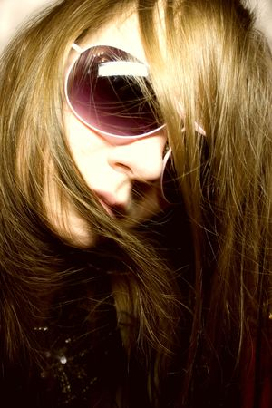 Portrait of the young woman in sunglasses Stock Photo - 4103211