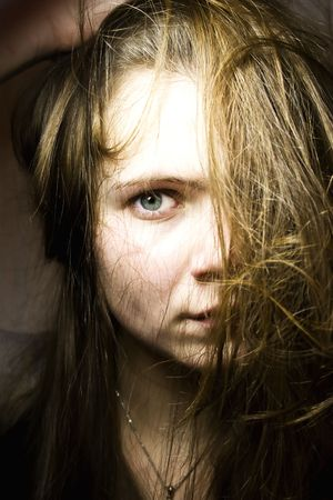 Portrait of the young woman with long hair Stock Photo - 4103210