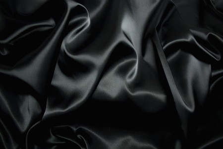 shiny black: texture of a black silk