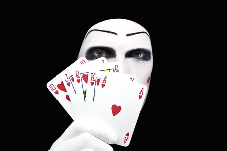 Portrait of the mime with Royal Flush photo