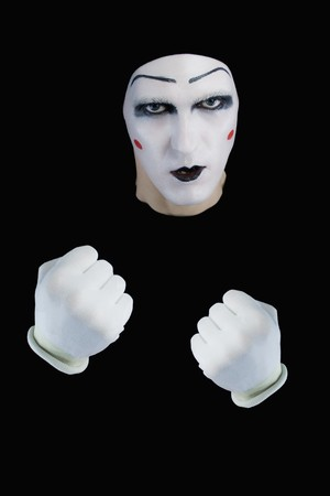 mime with the compressed fists photo