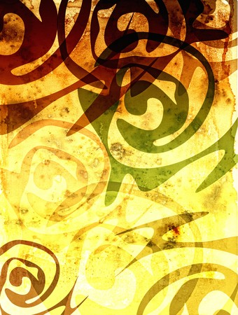 esoterics: Background with ethnic patterns Stock Photo