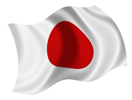 satin round: Flag of the Japan