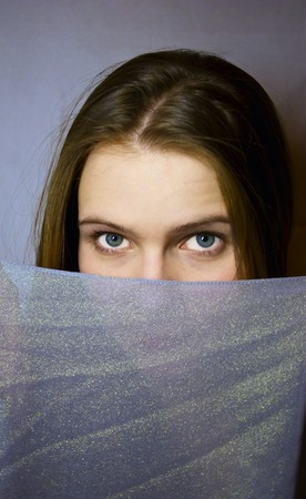 sateen: young girl with sateen Stock Photo