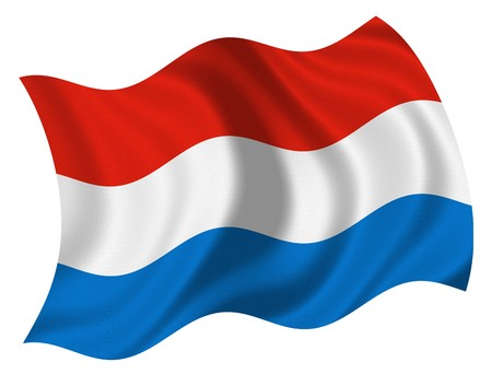 luxembourg: Flag of Luxembourg Stock Photo