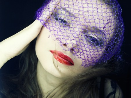 portrait of a young beautiful woman in the veil photo