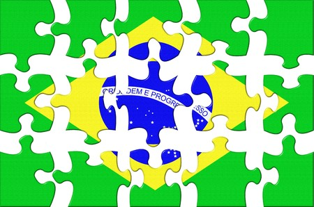 separate: Flag of Brazil puzzle