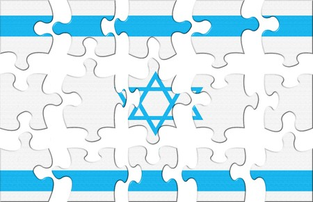 Flag of Israel puzzle Stock Photo - 4524560
