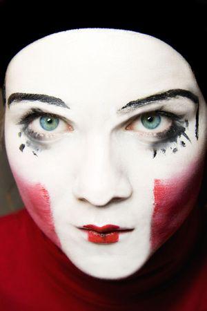 Portrait of the sad mime photo