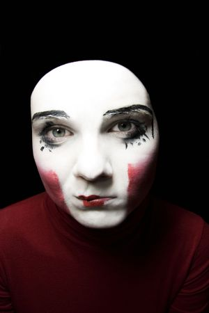 Portrait of the sad mime photo
