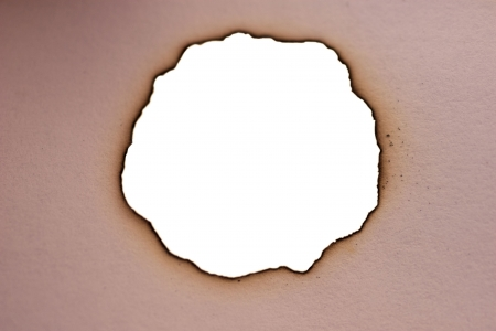 scorched: Sheet of paper with the scorched edges