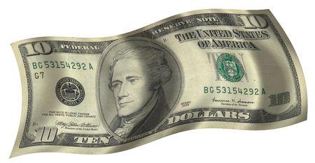 ten dollar flag Banco de Imagens