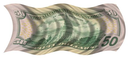 fifty dollar flag Banco de Imagens
