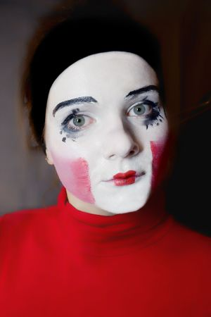 Portrait of  sad mime photo