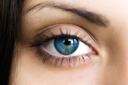 Mujeres de ojos de color azul oscuro cerca Foto de archivo - 5128502