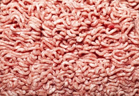 forcemeat: texture of the beef forcemeat close up Stock Photo