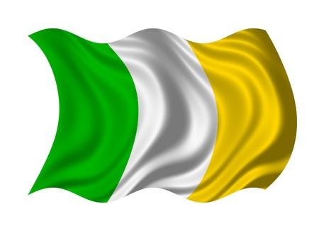 Flag of Ireland isolated on white background photo