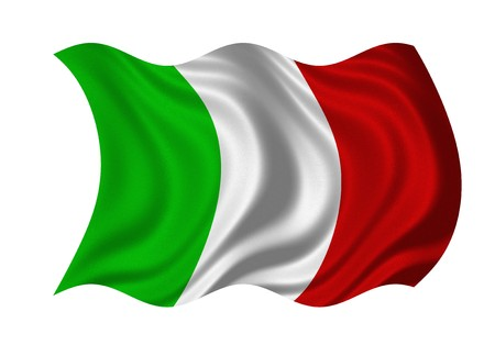bandera italia: Bandera de ItAli aislado sobre fondo blanco