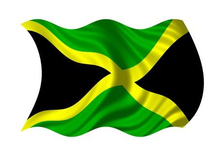 Flag of Jamaica isolated on white background photo