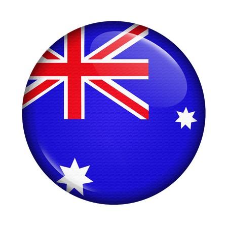 flag australia: icon with flag of Australia isolated on white background