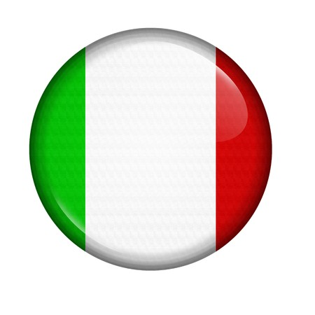 italy flag: icon with flag of Italy isolated on white background