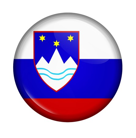 icon with flag of Slovenia isolated on white background photo