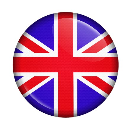 britannia: icon with flag of UK isolated on white background