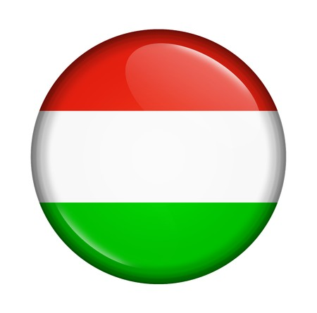 icon with flag of Hungary isolated on white background photo